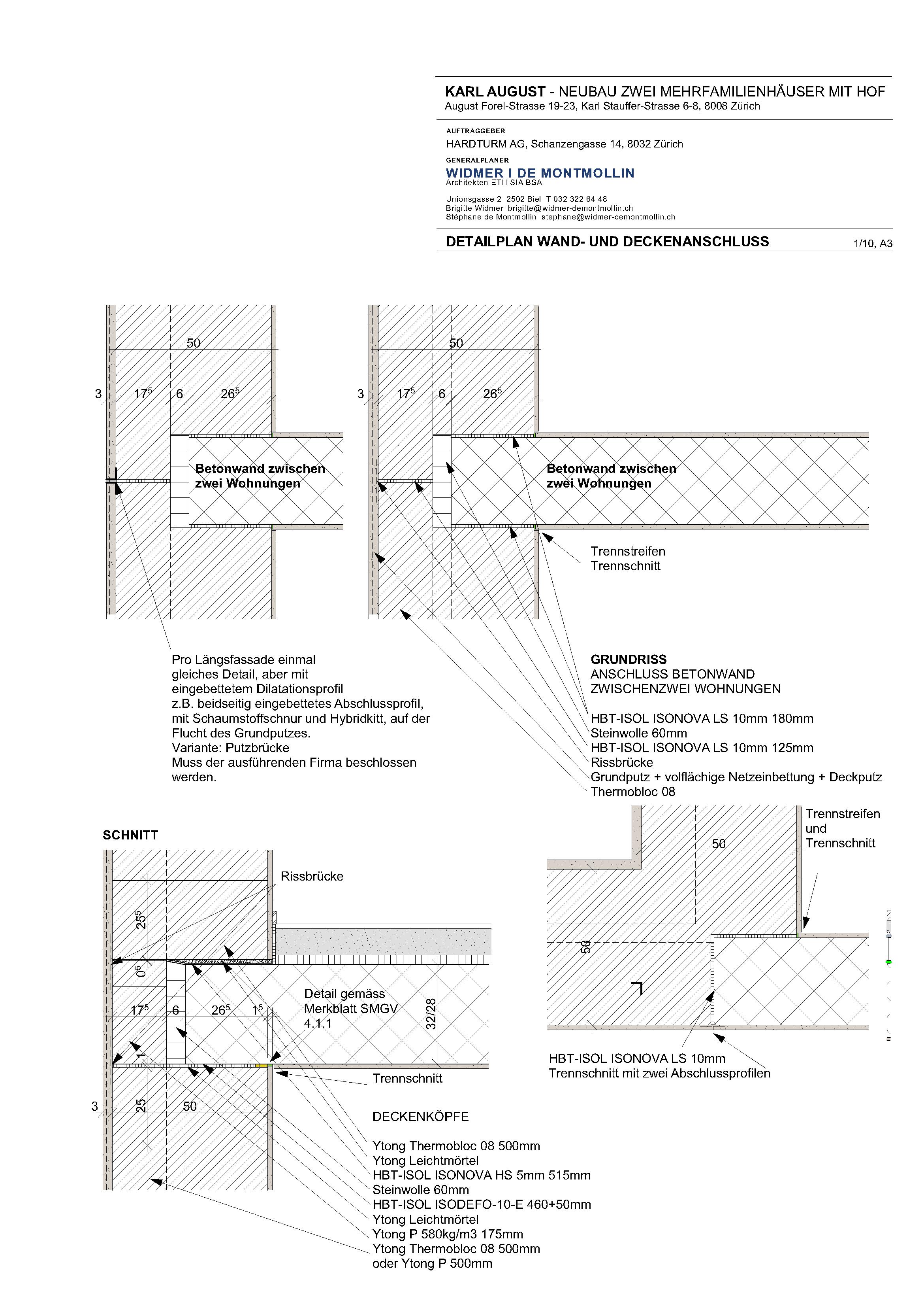 006 Detail Wand und Deckenanschluss