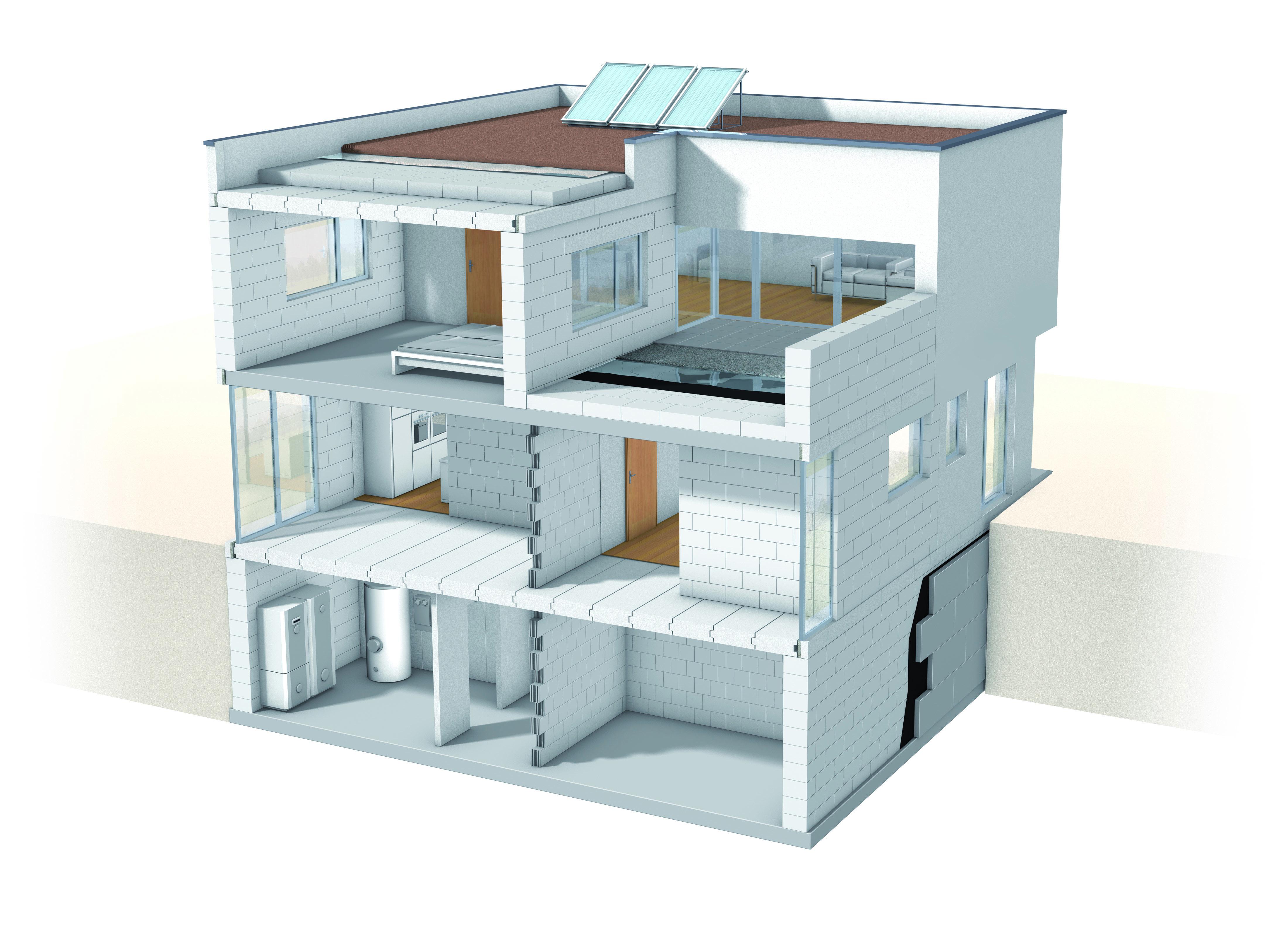 Xella Hausillustration Einfamilienhaus 1504 Original