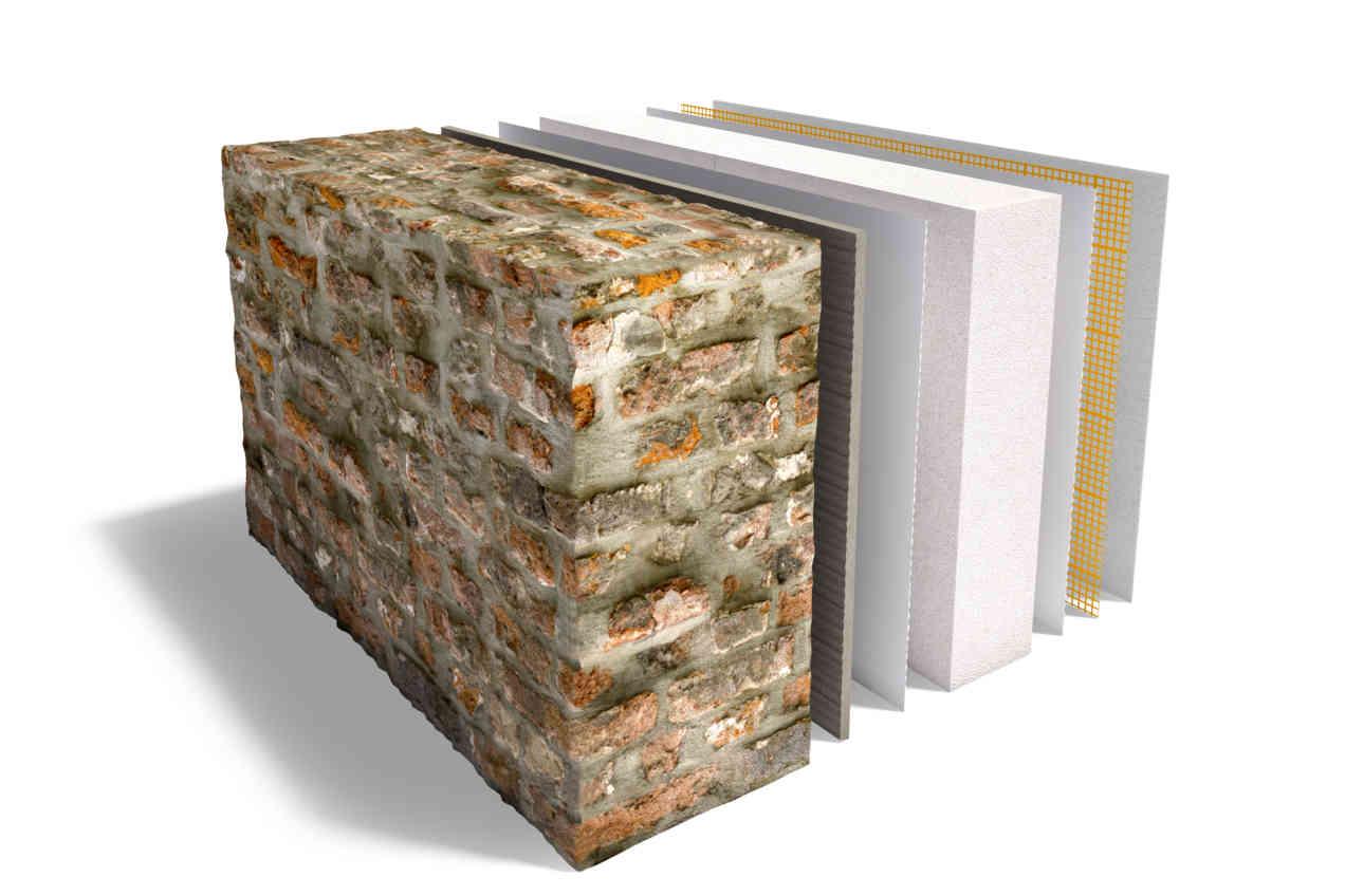 Xella wall 07 Multipor interior insulation on old natural stone final